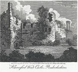 Haverford West Castle, Pembrokeshire