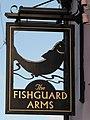 Haverfordwest, Fishguard Arms pub sign - geograph.org.uk - 2028821.jpg