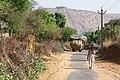 Hay transport and man with sunshade - panoramio.jpg