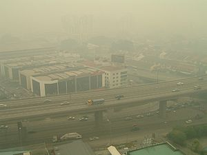 ASEAN Agreement on Transboundary Haze Pollution - Severe haze affecting Ampang, Kuala Lumpur, Malaysia in August 2005
