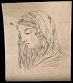 Head of the Virgin Mary. Drawing, c. 1793. Wellcome V0009258.jpg