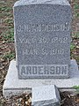 Headstone for James Newton Anderson - panoramio.jpg