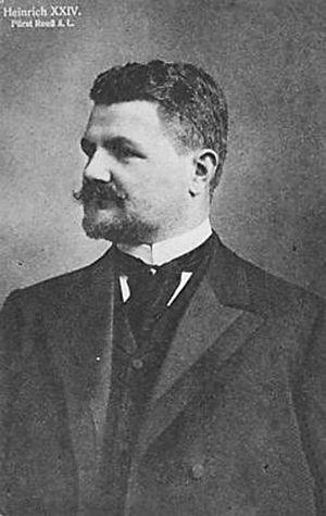 Heinrich XXIV, Prince Reuss of Greiz - Prince Heinrich XXIV ca. 1905
