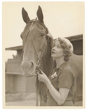 Thoroughbred (film) - Helen Twelvetrees during filming of Thoroughbred