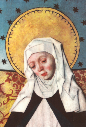 Bridget of Sweden - Altarpiece in Salem church, Södermanland, Sweden (restored digitally)