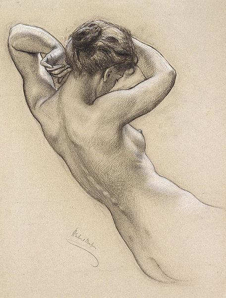 File:Herbert James Draper, Figure Study for Prospero.jpg
