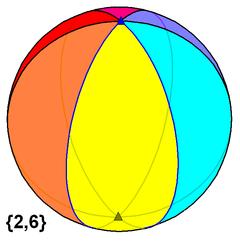 Hexagonal hosohedron