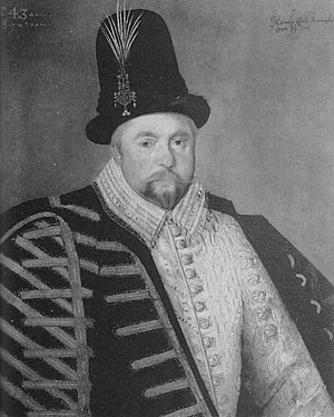 Hieronimo Custodis - Image: Hieronimo Custodis portrait of Giles Brydges 3rd Baron Chandos 1589