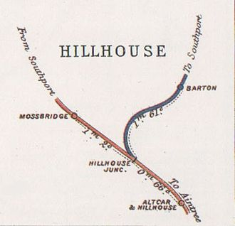 Liverpool, Southport and Preston Junction Railway - Railway Junctions Diagram of Hillhouse Junction