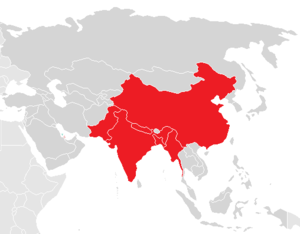 History of the taka - Countries where the historical taka/tanka/tangka was used. Note that China is included as it was the suzerain of Tibet.