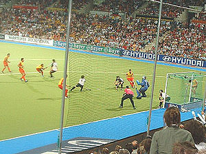 Germany men's national field hockey team - Semifinal match 2006 between Germany and Spain