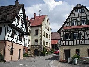 Hoffenheim - Historical houses in Wainstädter Straße
