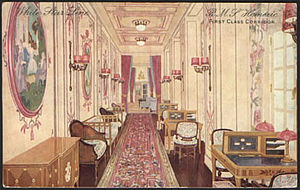 RMS Homeric (1913) - Image: Homeric corridor