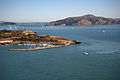 Horseshoe bay and Angel Island seen from the Golden Gate Bridge 164.jpg