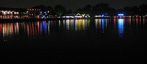Houhai - The Houhai lake in Beijing at night