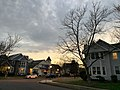 Houses at twilight with trees and clouds.jpg