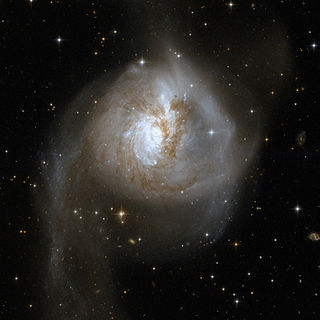 NGC 3256 interacting galaxy