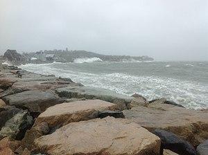 Effects of Hurricane Sandy in New England - Hull, Massachusetts