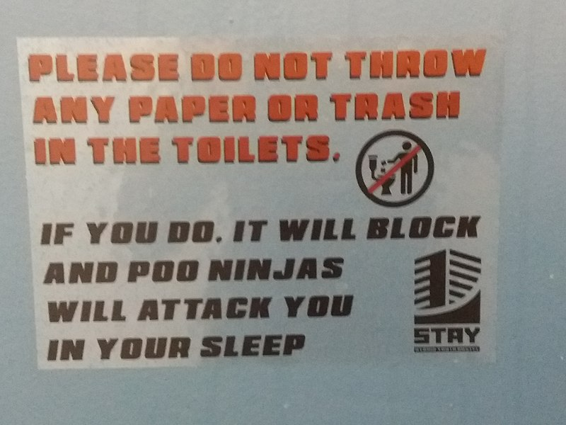 File:Humorous information poster in Stay Hybrid Guesthouse, Thessaloniki, 1.jpg