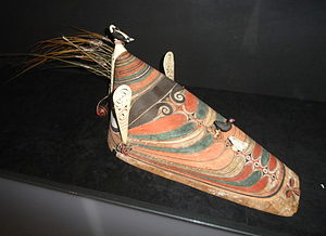 Aleut - Men's hunting hat, Arvid Adolf Etholén collection, Museum of Cultures, Helsinki, Finland