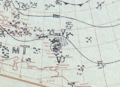 Hurricane Five July 25, 1933 surface analysis.png