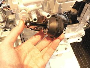 Hydraulic EGR valve open