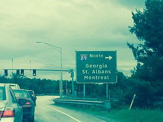 Colchester, Vermont - Interstate 89 Exit 17 in Colchester (June 5, 2015)