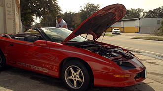 """Chevrolet Camaro (fourth generation) - 1995 Camaro convertible from the movie """"Tooth Fairy 2"""""""