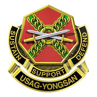 Yongsan Garrison - Image: IMCOM Crest USAG Yongsan
