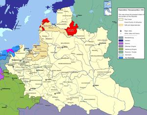 Инфлянтское воеводство на карте