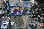 ISS-19 Crew members drink water from the Water Recovery System.jpg