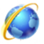 Icon - Blue globe with a gold orbit.png