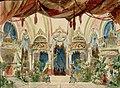 Il Giardino d'inverno nel Casino Nuovo di Montecarlo, bozzetto di Anton Brioschi per Rosso e Nero (1894) - Archivio Storico Ricordi ICON002509.jpg