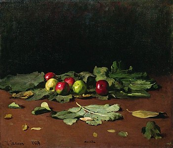 Ilya Repin. Apples and Leaves