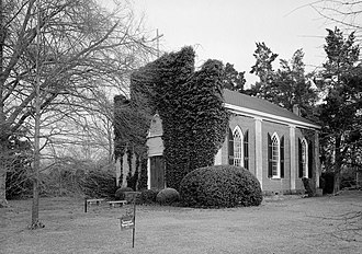 La Grange, Tennessee - The Immanuel Episcopal Church, listed on the National Register of Historic Places