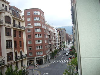 Indautxu - Indautxu square, from Gregorio de la Revilla street.