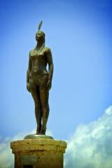 Statue of India Catalina in Cartagena de Indias.