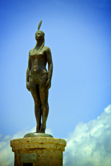 Statue of India Catalina in Cartagena de Indias.