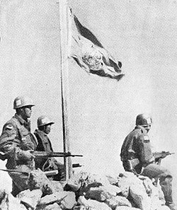 Indonesian peacekeepers under the UN Flag, circa 1957