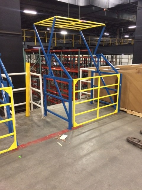Industrial Safety Gate for Mezzanines and Elevated Platforms
