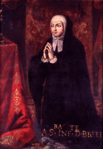 Beatriz, Duchess of Viseu - Depiction of Infanta Beatriz in a 1678 portrait in the Convent of Beja