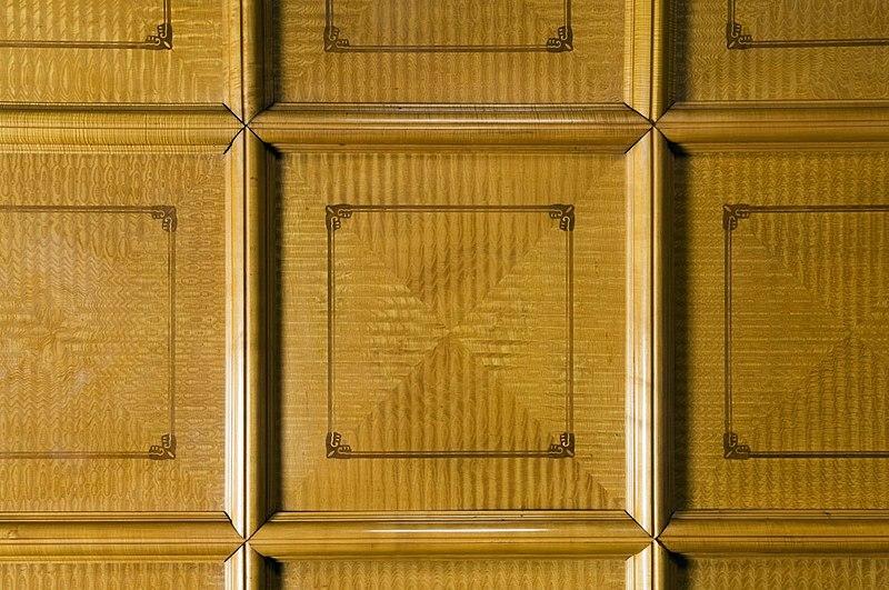 File interieur detail van het cassettenplafond van de grote vergaderzaal amsterdam 20530534 - Whirlpool van het interieur ...