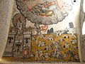 Interior of Santa Maria d'Arties - Fresco of the Last Judgment 3 Heaven.JPG