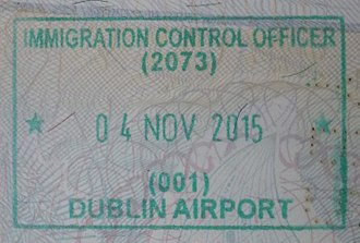Visa policy of Ireland - Entry stamp for Ireland