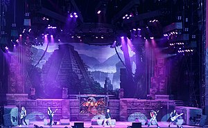 The Book of Souls World Tour - Iron Maiden performing in Nyon, Switzerland, 20 July 2016