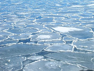 Pytheas - Pancake ice in the Baltic in spring near the Swedish coast.