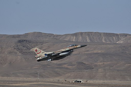Israeli F-16C takes off from Ovda Airport in 2013