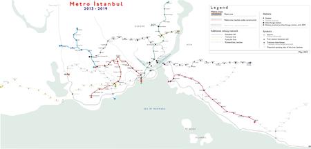 Istanbul Subway Map 2015.Istanbul Metro Wikipedia