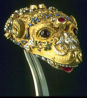 Zibellino - Jewelled head for a zibellino, Italy, ca. 1550-59 (Walters Art Museum)