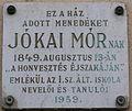 Jókai Mór Plaque Gyula.jpg